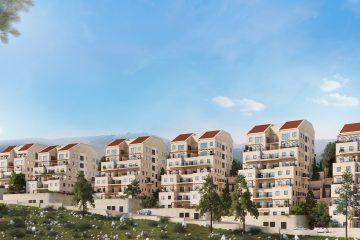 """פרוייקט """"מגורי אהרון"""" – גבעת זאב  (102 יחידות דיור)"""